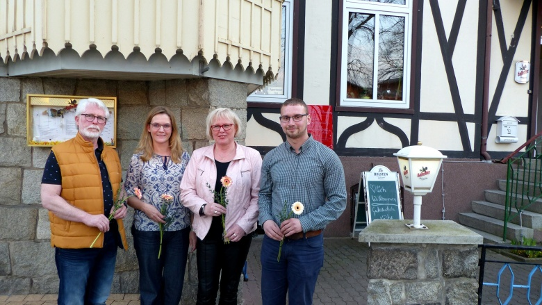 v.l.n.r.: In den  neuen Vorstand der CDU Ilsenburg-Nordharz wurden kürzlich gewählt: Hans-Jürgen Bley (Vorsitzender), Sibylle Lehmann (Beisitzerin), Brit Purmann (stellvertretende Vorsitzende) und Martin Lidke (Mitgliederbeauftragter) sowie nicht auf dem